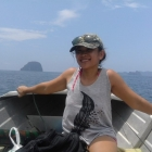 Ashly on the seas in Thailand