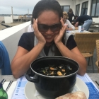 Ashly finally gets a pot of mussels on the last day.