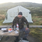 Back at camp with Vodka, Beer, Cigars and pyjamas!