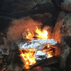 Campfire cooking in Russia