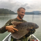 Flavio lands his first Giant Gourami