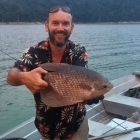 A 2KG Gourami on Ronan's last cast of the trip!