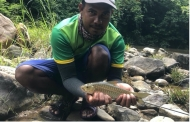 Hasan and a Copper Mahseer