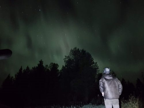 watching nothernlights